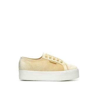 Superga sko i beige velour
