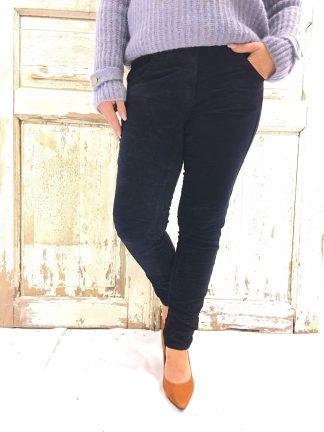 Bianco bukse i mørke blå fløyel