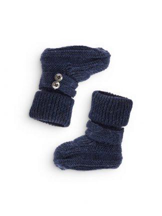 Utesokker til baby i ull, blå
