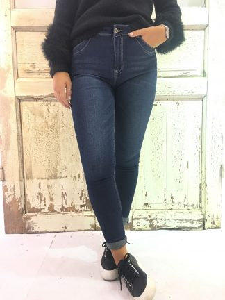 Pepper bukse i mørk blå jeans