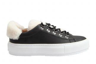 Philip Høg sorte sko med pels