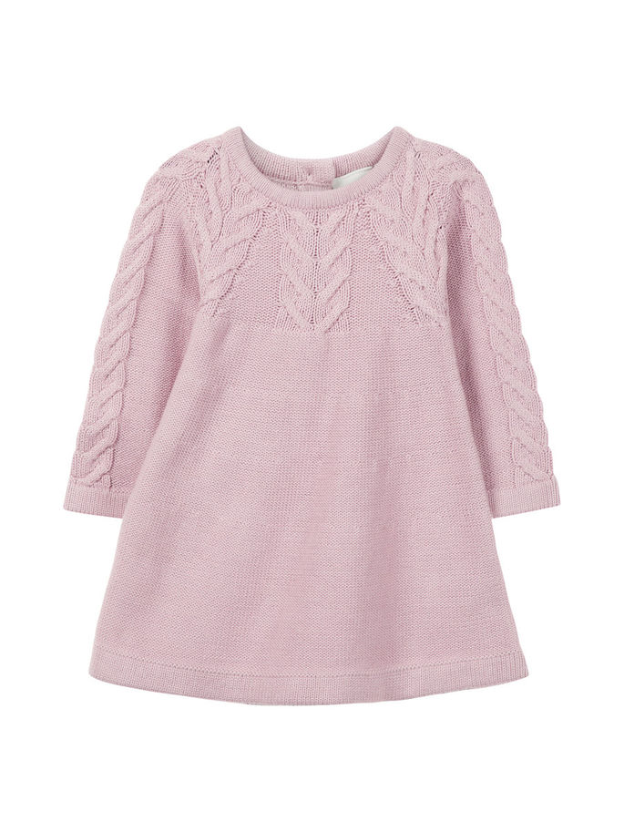 59ba4d25 Name It babykjole, rosa – Name It lys rosa strikkekjole til baby – Mio Trend