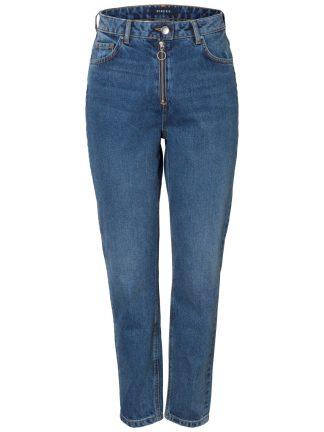 Jeans med ekstra høyt liv