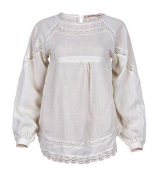 Bluse med blonder fra Rue de Femme