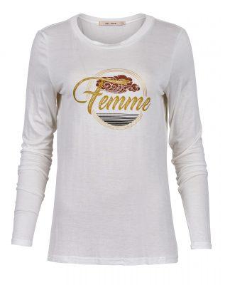 Rue de Femme tynn hvit genser