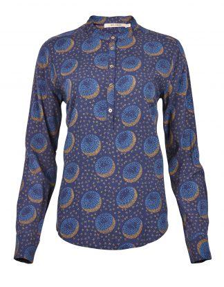 Rue de Femme blå bluse med mønster