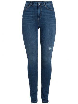 Jeans med ekstra høyde på livet