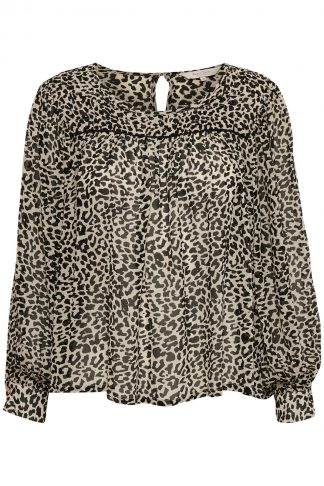 Part Two bluse i leopard