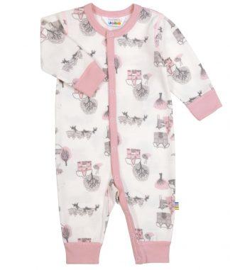 Joha rosa pysjamas i ull og bambus