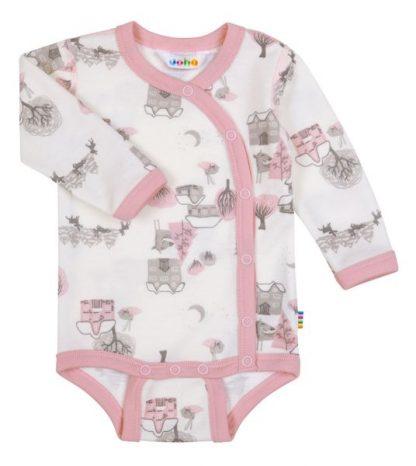 Joha body med omslag i ull og bambus – Joha body med omslag i ull og bambus rosa – Mio Trend