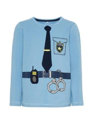 Name It genser med Politi, lyse blå