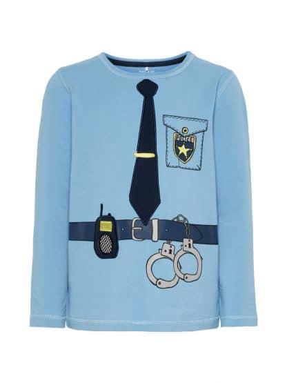 Name It genser med Politi, lyse blå – Name It genser med Politi lyse blå – Mio Trend