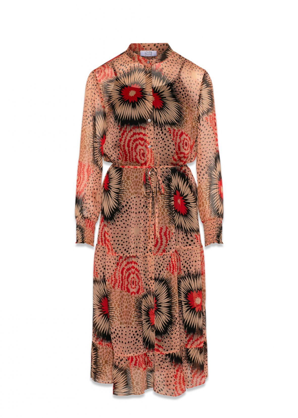 17a6a88c Love & Divine lang kjole – Love & Divine kjole med mønster – Mio Trend