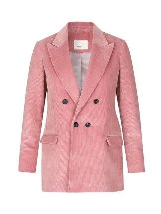 rosa blazer i cordfløyel