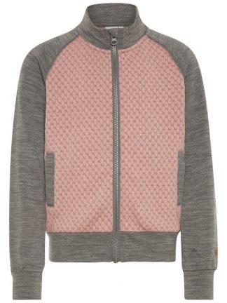 Name It ulljakke, rosa og grå