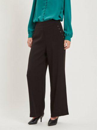 Vila bukse med høyt liv, sort
