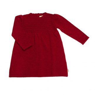 Rød ullkjole til barn