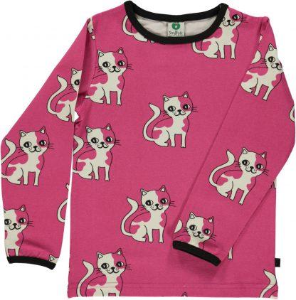 Småfolk genser med katt – Småfolk rosa genser med katt – Mio Trend