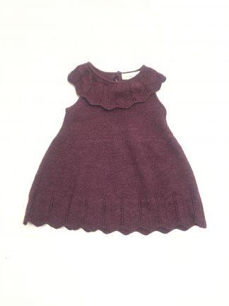 Name It kjole i ull, lilla til baby