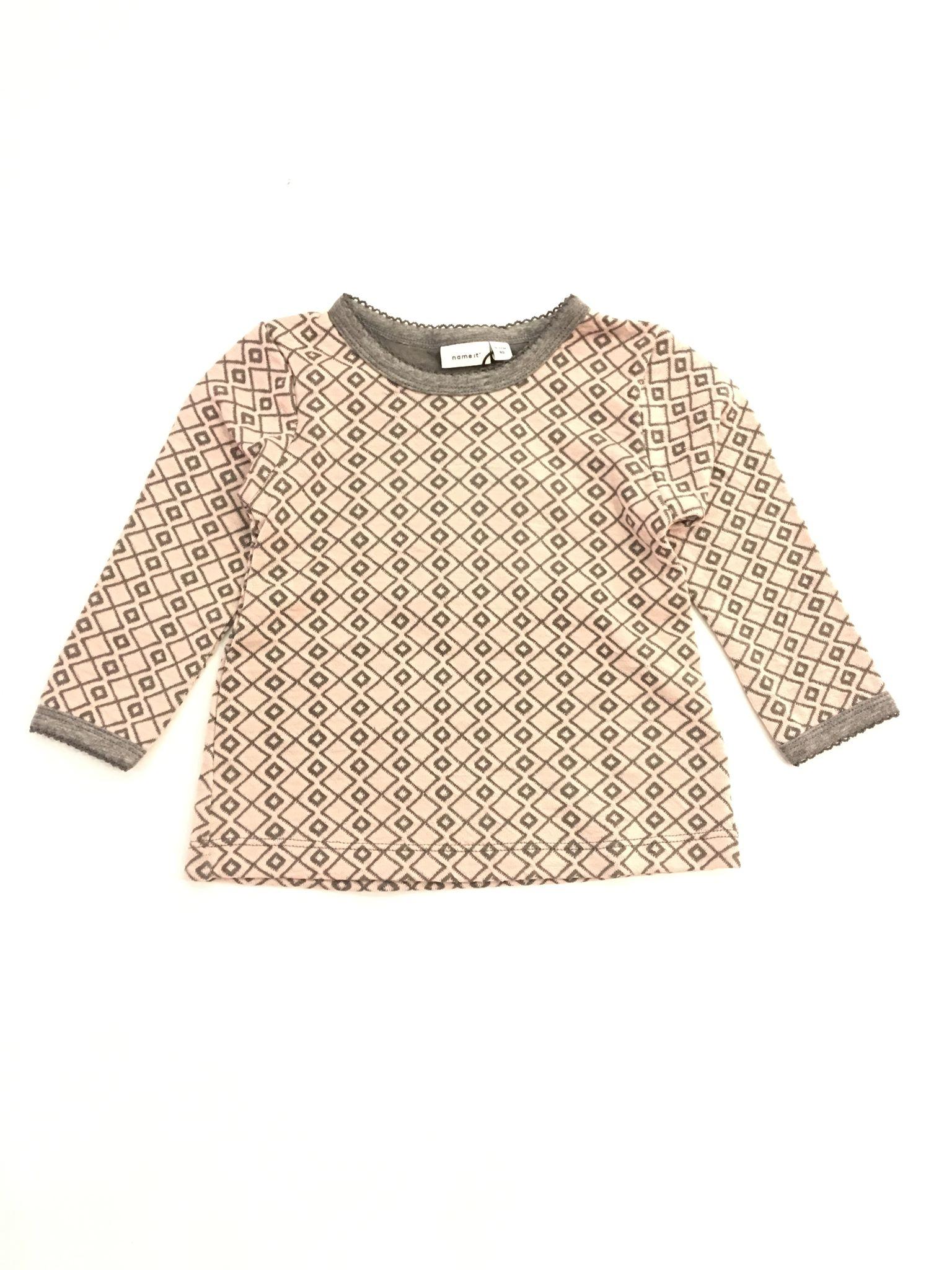57b73ee1 Name It ull bomull – Ull trøye i bomull og ull grå Wupsus – Mio Trend