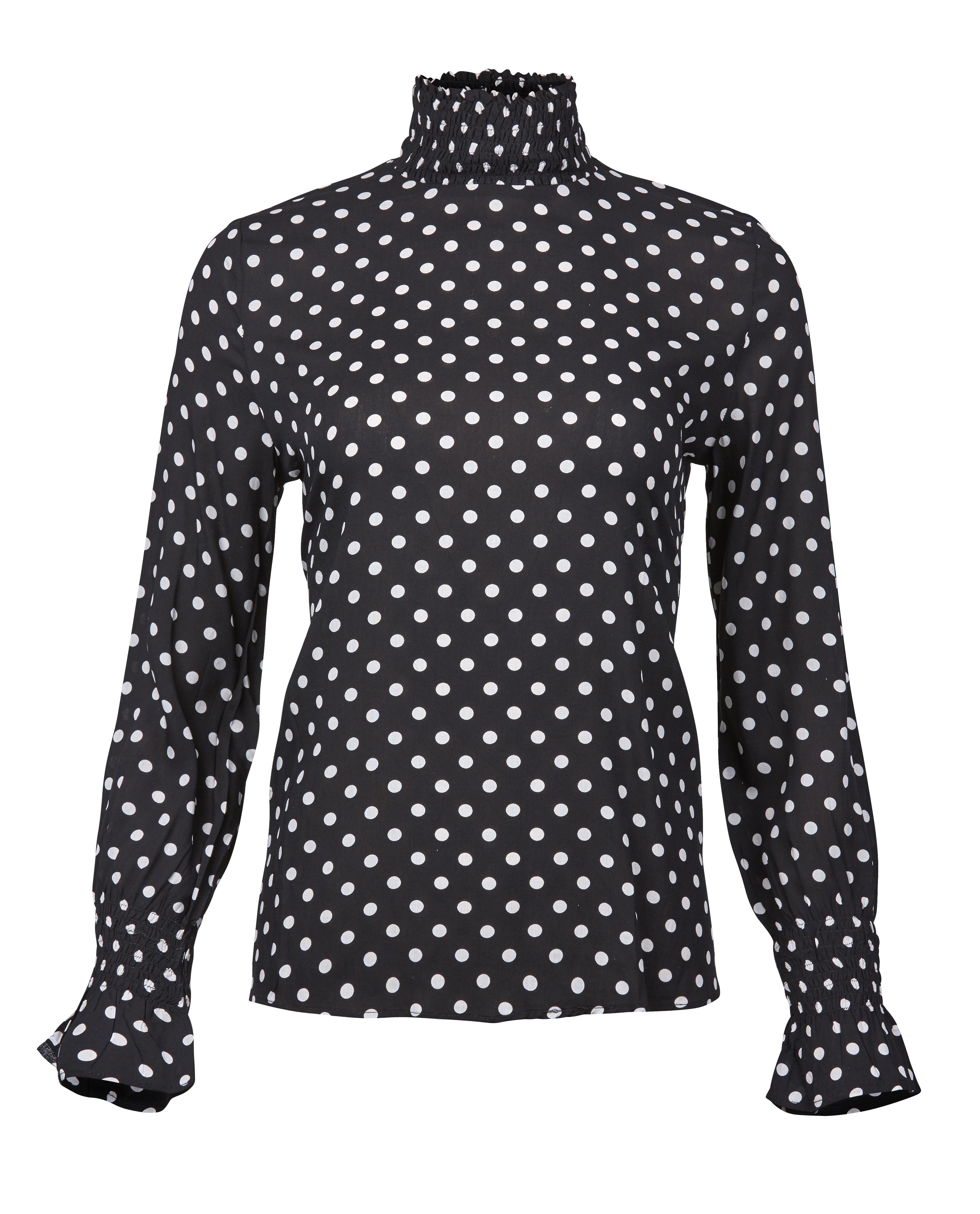 7c6d5a04 Sort bluse med hvite prikker – Rue de Femme sort topp med hvite prikker –  Mio
