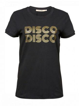 Sort t-skjorte med gullprint