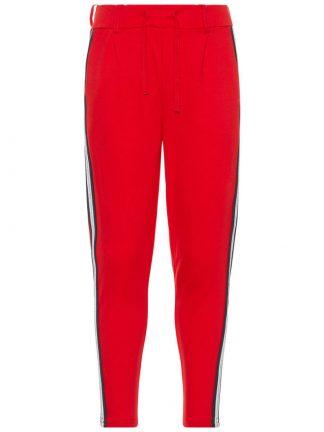 Rød bukse med stripe