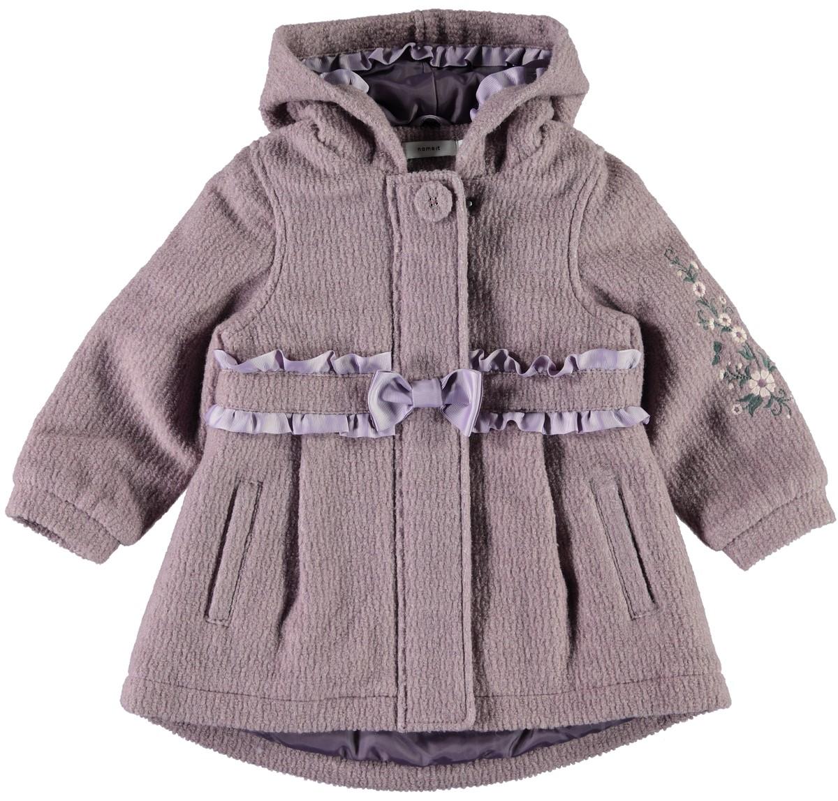 6c8e367e På salg! 🔍. ullkåpe til barn – Name It ullkåpe lys lilla – Mio Trend