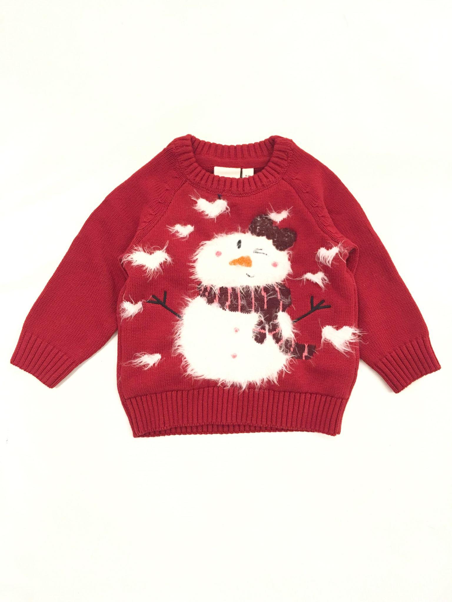 julegenser til barn med snømann MioTrend