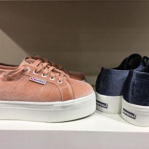 Superga sko med platå