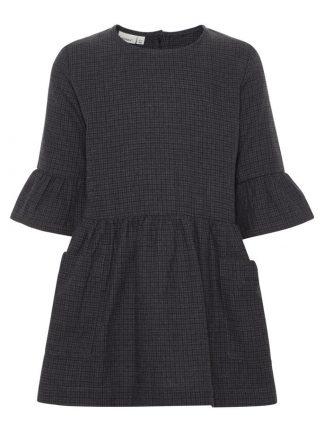 grå rutete kjole til barn