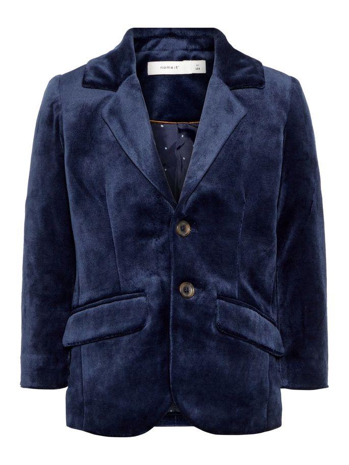 5465aa38 Blå dressjakke til barn fra Name It. Mørk blå blazer til små gutter.
