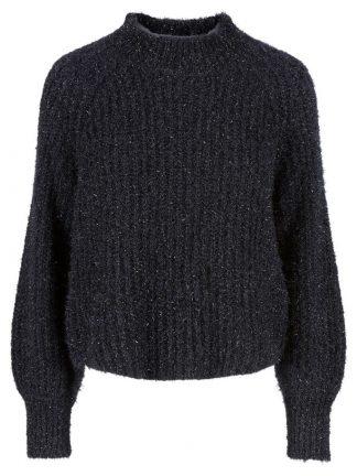 Sort genser med glitter