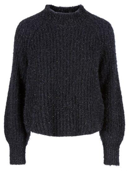 Sort genser med glitter – Y.A.S sort genser med glitter – Mio Trend