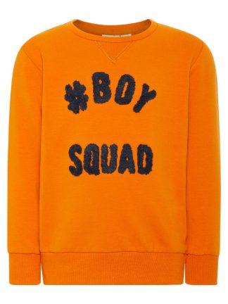 Oransje genser til barn