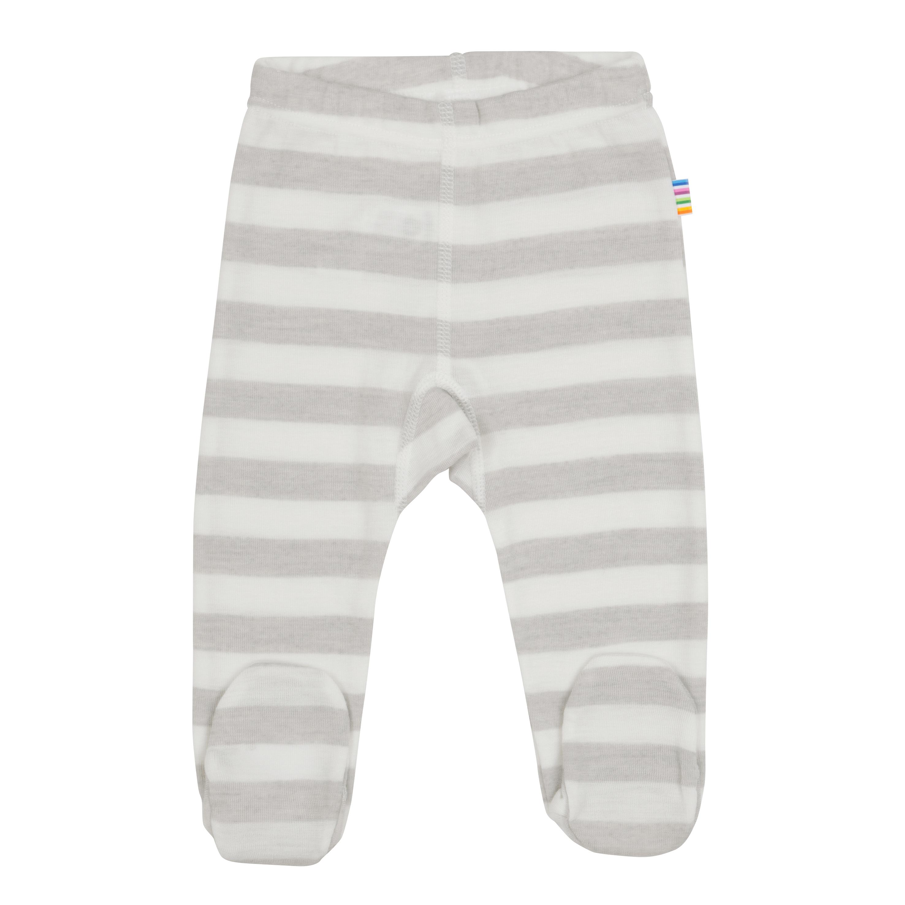 eb97e9e15fc Joha ullbukse med fot til baby. Stripete longs i 100% merinoull. Ull ...