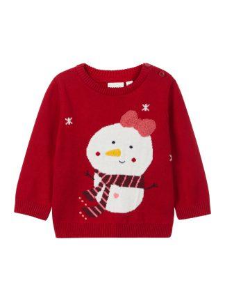 rød julegenser til baby