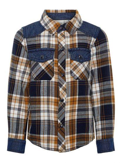 Name It skjorte med ruter – Skjorter og vester skjorte med ruter og denim  – Mio Trend