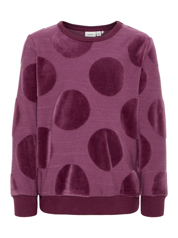 lilla genser med rundinger i velur MioTrend