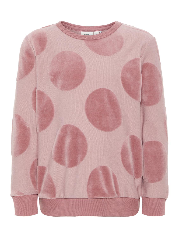 rosa genser med rundinger i velur MioTrend