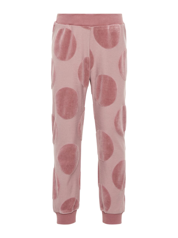 rosa bukse med rundinger i velur MioTrend