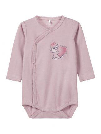 Name It rosa omslagsbody med print