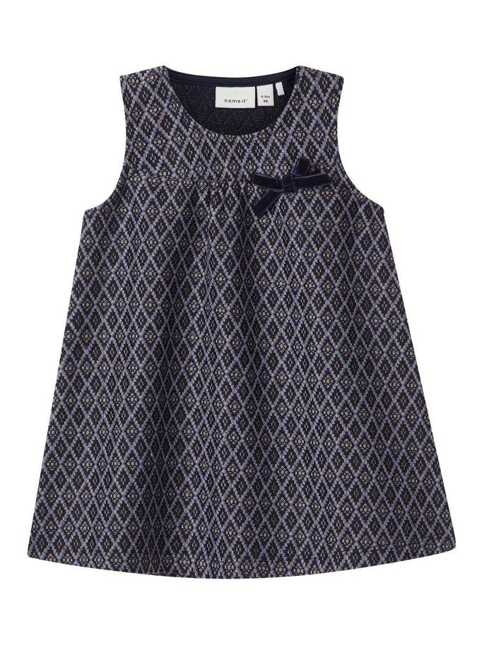 bb12af4339af Name It mørk blå kjole til baby jente - Kjoler og pentøy til jente ...