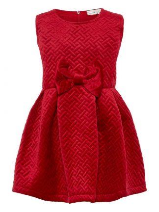 Rød julekjole til jente fra Name It
