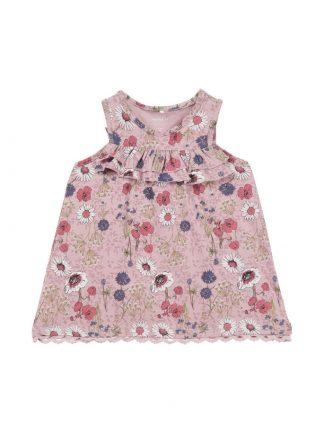 Name It rosa blomsterkjole