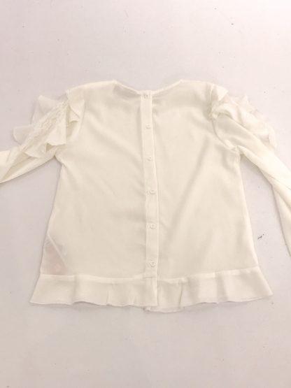 Name It hvit bluse med rysjer