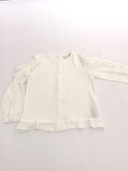 Name It hvit bluse med rysjer – Name It hvit bluse med rysjer – Mio Trend
