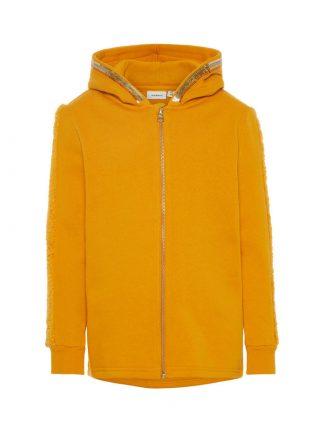 Name It gul hettejakke med paljettdekor