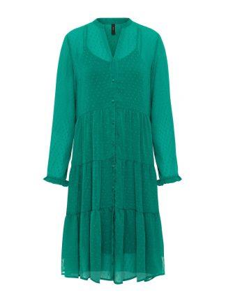 Grønn kjole med lange armer