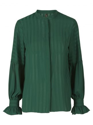 Grønn bluse fra YAS